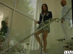 vixen Hot babysitter fucked by her boss