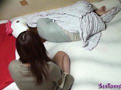 Asian teen strapon fucks