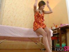 Lara in My first massage