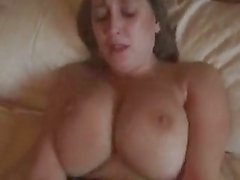 Big Titted British Milf Fucks And Gets Her Tits Creamed !