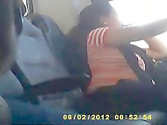 Hitting a handjob on the bus to pass the time