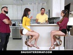 DaughterSwap - Slutty Besties Fuck Eachothers Dads