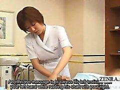 De CFNM Subtitled Japon branlette station thermale groupe de de démonstration