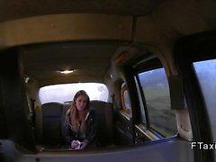 Revengeful girlfriend bangs in fake taxi