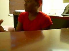 Boquete Ebony durante emprego entrevista (real)