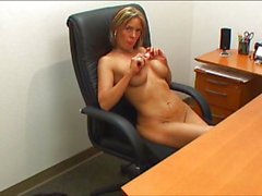 MILF secretary will make you cum