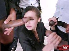 Sıcak pornstar dp ve yüz