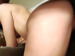 Gonzo pornstar gets bent over
