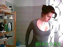 Hidden Cam Catches Her In The Shower