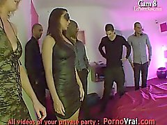French Voyeur Swinger Fuck in Orgy Party