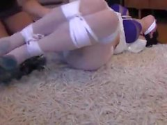 French girl tied up and gagged