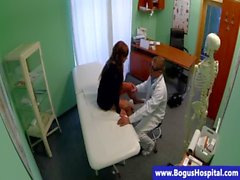 Real babe at doctors fucked by doctor