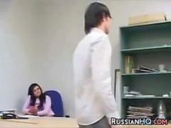Russian Girl Fucked In The Office