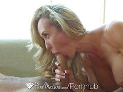 PureMature - Busty maduro Brandi Love obtém seu bichano envelhecido pounded