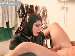 Dirty Carmen in steamy latex stuffing part1