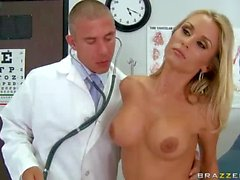 Busty Laura Crystal gets her hole examined and fucked