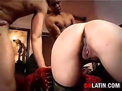 Latina In Latex Gets Double Penetrated