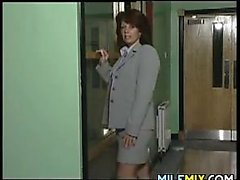 MILF Strips And Masturbates
