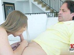 hija caliente oral y de intercambio