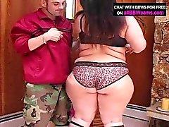 Giant sucking woman plumper ass super size