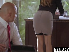 Submissive Secretary Dominated by her Boss
