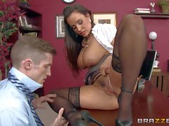 Huge tittied milf Lisa Ann caught up in a bubble butt Porn devoted scene