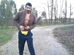 Muscle Stud da giardino Webcam Show ( Dick Stuzzicare , No Cum )