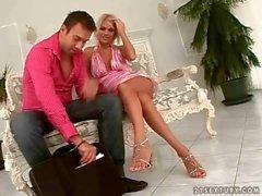 Jasmine Rouge enjoying hot footsex