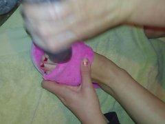 Best Friend Pink Slipper Footjob Handjob