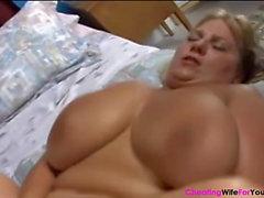 Inanılmaz büyük göğüsler şişman kadını