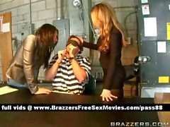 Two amazing sluts talk to a prisoner