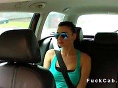 sahte bir taksi ile şantaj Teen sikiş