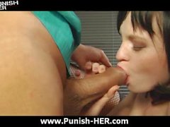 Russian babe gets punished