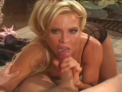 Busty Blonde Cougar Seduces Younger Guy
