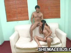 Sexy shemale Paola stroking herself