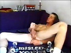 Solo gay cock jerker