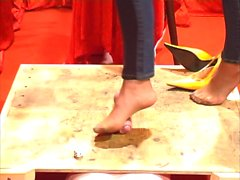 Cock Trampling in High Heels and Sexy Nylons