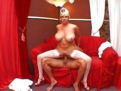 Big tits blonde nurse pounding