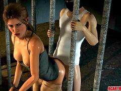 Runde Ass und große Titten Lara Croft gefickt roh