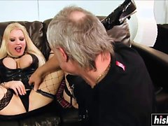 Older guys plow two hot blondes