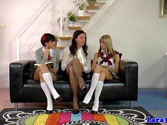 UK les mature joining schoolgirls in trio