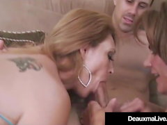 Mature Cougars Deauxma & Charlee Chase Blow Husband!