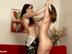 Lovemaking the lesbian way with Antonia and Nikole on Sapphic Erotica