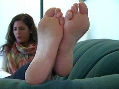 Beautiful girl beautiful feet