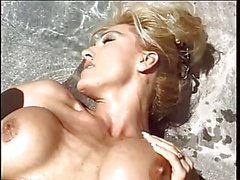 Tall blonde wife with amazing tits gets her pussy fingered poolside