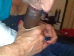 Amateur grandma Interracial cocksucking