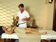 charming busty babes in secret massage saloon