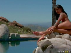 Unfaithful wife Angelina Valentine gets double dicked