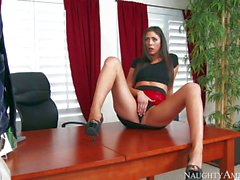 Anna Morna spreading her slim legs for her boss