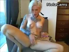 Bondage Punk Rocker Chick With Tattoos